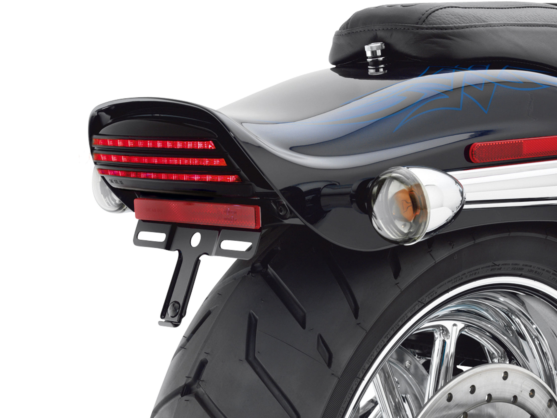 Led tri bar taillight rear light harley davidson fxst fxstb fxstc led tri bar rear tail lamp kit harley softail mozeypictures Images