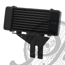 JAGG HORIZONTAL OIL COOLER, 10-ROW BLACK HARLEY 91-15 DYNA